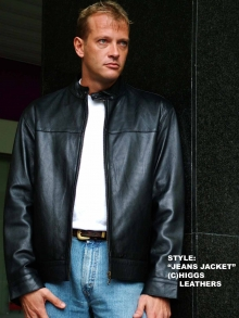 Higgs Leathers NEW STOCK!  Judd  (Jeans style men's black leather jacket)